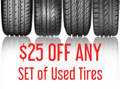 $25 Off Any Full Set of Tires from The Car Shoppe