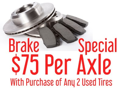 $75 Per Axle Break Special from The Car Shoppe
